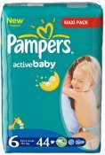 Pampers ACTIV BABY EXTRA LARGE (15+) 44 szt.