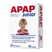 Apap Junior 250 mg 10 sasz.