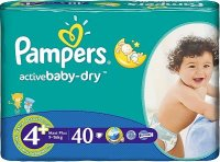 Pampers ACTIVE BABY MAXI PLUS (9-16kg) 40 szt