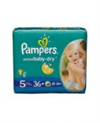 PAMPERS ACTIVE BABY -DRY (11-18kg) 36 szt.