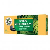 Carbo medicinalis VP 300 mg 20 tabletek