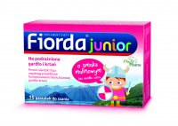 Fiorda junior (smak malinowy) 15 pastylek do ssania