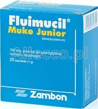 Fluimucil Muko Junior 100 mg 20 sasz.