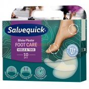 SALVEQUICK FOOT CARE MIX Plastry na otacia i pęcherze 10 szt.