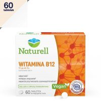 Naturell Witamina B-12 60 tabletek do ssania / Energia