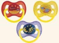 CANPOL KOSMICZNY Smoczek lateksowy, okrągły (6 18M) 1 szt