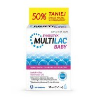 Multilac BABY Synbiotyk krople (2 x 5 ml) 10 ml