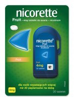 Nicorette Fruit 4 mg 20 tabletek do ssania