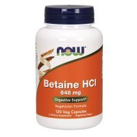 NOW Betaine HCL 648 mg 120 kapsułek