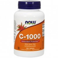NOW C-1000 With Rose & Bioflavonoids 100 tabletek