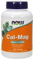 NOW Cal-Mag with B-complex,vit.C 100 tabletek