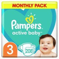 Pampers Active Baby 3 (6-10kg) 208 szt.