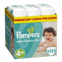 Pampers Active Baby 4+ (10-15kg) 152 szt.