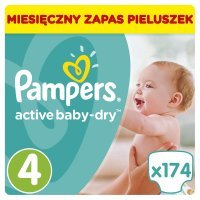 Pampers Active Baby 4 (9-14kg) 174 szt.