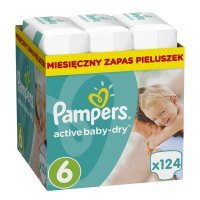 Pampers Active Baby 6 (13-18kg) 124 szt.