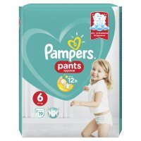 Pampers Pants ExLarge 6 (15kg+) 19 szt.