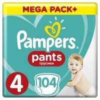 Pampers Pants Maxi 4 (9-15kg) 104 szt.
