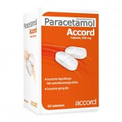 Paracetamol Accord 500 mg 50 tabletek