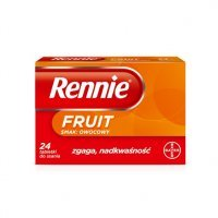 Rennie FRUIT (smak owocowy) 24 tabl.
