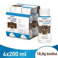 Resource Protein smak czekoladowy, 4x200ml