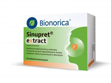 Sinupret Extract - 20 tabletek - zatoki