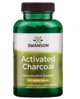 SWANSON Activated Charcoal 120 kapsułek