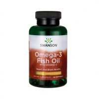 SWANSON Omega-3 Fish Oil Lemon 60 kapsułek